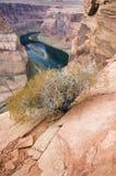 La courbure en fer à cheval donnent sur, paginent, l'Arizona Photos stock