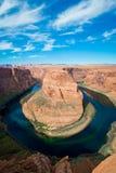 La courbure et le fleuve Colorado célèbres de chaussure de cheval photographie stock libre de droits