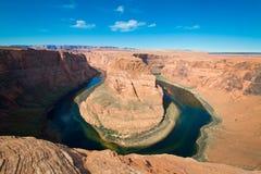 La courbure et le fleuve Colorado célèbres de chaussure de cheval Photo libre de droits
