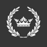 La couronne et le laurier tressent - blason ou manteau des bras illustration de vecteur