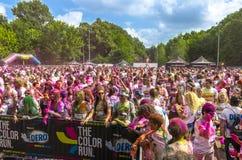 La course Bucarest de couleur Photos stock