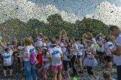 La course Bucarest de couleur Images libres de droits