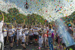 La course Bucarest de couleur Photo stock