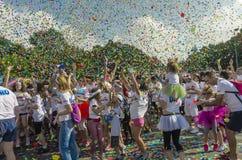 La course Bucarest de couleur Image libre de droits