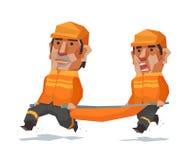 La course d'équipe de secours illustration libre de droits
