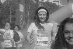 La course 2017 de couleur à Bucarest, Roumanie Photographie stock libre de droits