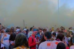 La course 2017 de couleur à Bucarest, Roumanie Image libre de droits