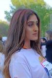 La course 2017 de couleur à Bucarest, Roumanie Images stock