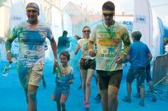 La course de couleur est une course accueillie mondiale d'amusement Photos stock
