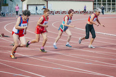 La course de dames âgées 100 mètres Images libres de droits