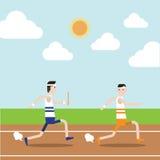 La course de relais dans le champ de courses Images stock