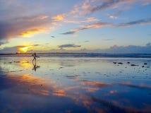 La course de surfer pour les vagues Photos libres de droits