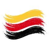 La course grunge de brosse avec le drapeau national de l'Allemagne a isolé sur un fond blanc Illustration de vecteur illustration stock