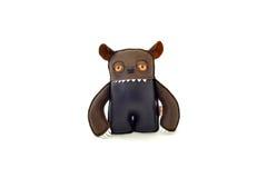 La coutume handcrafted a bourré le jouet en cuir - ogre - avant Photos stock