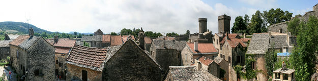La Couvertoirade france panorama Royalty Free Stock Photo