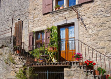 La Couvertoirade a Medieval fortified town in France Stock Image