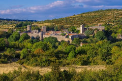 La Couvertoirade a Medieval fortified town in France Royalty Free Stock Photo