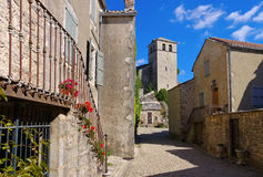 La Couvertoirade a Medieval fortified town in France royalty free stock photos