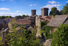 La Couvertoirade a Medieval fortified town in France stock photos