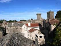 La couvertoirade, typical village of France: royalty free stock photography