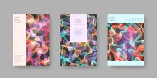 La couverture abstraite lumineuse conçoit pour la brochure, la présentation, le catalogue, l'affiche, etc. Illustration de vecteu Photographie stock
