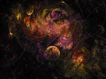La couverture de carte de fractale d'abstraction rendent texture créative de future de chaos de mouvement d'effet énergie d'ordin illustration stock