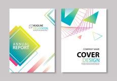 La couverture et la brochure géométriques modernes abstraites conçoivent le CCB de calibre Photographie stock libre de droits