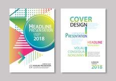 La couverture et la brochure géométriques modernes abstraites conçoivent le CCB de calibre Photographie stock