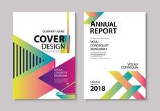 La couverture et la brochure géométriques modernes abstraites conçoivent le CCB de calibre Image libre de droits