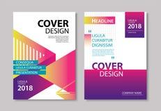 La couverture et la brochure géométriques modernes abstraites conçoivent le CCB de calibre Photos stock