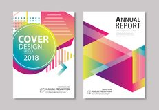La couverture et la brochure géométriques modernes abstraites conçoivent le CCB de calibre Images stock