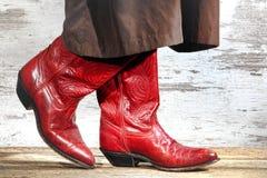 La cow-girl occidentale américaine de rodéo rejette la danse en deux étapes Photo stock