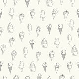 La crème glacée gribouille le modèle sans couture Photos libres de droits