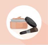 La crème rougissent calibre de cosmétiques Dirigez l'illustration de vecteur pour font de la publicité, vente de achat, label, co Image stock
