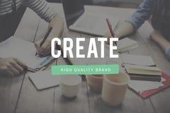 La création créent le concept d'invention d'imagination de créativité d'idées photo libre de droits