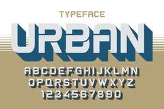 La création de fonte décorative de vecteur de profondeur, alphabet, oeil d'un caractère, type Image stock