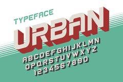 La création de fonte décorative de vecteur de profondeur, alphabet, oeil d'un caractère, type Images stock