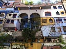 La création de Hundertwasser photographie stock