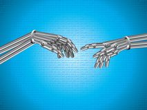 La création du robot illustration stock