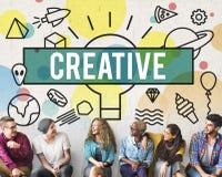 La créativité créative inspirent le concept d'innovation d'idées image libre de droits