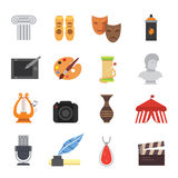 La créativité graphique de symboles artistiques de divertissement d'icônes de conception et de compétence d'art dirigent des symb illustration libre de droits