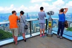 La crête de la terrasse 428 de ciel, Hong Kong Photos libres de droits