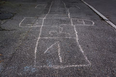 La craie écossaise de panneau d'houblon numéro un Fade Out Detail Children Game Image libre de droits