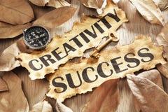 La créativité est principale au concept de réussite Image libre de droits