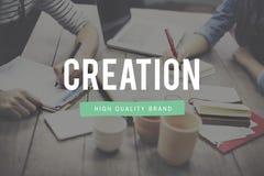 La creación crea concepto de la invención de la imaginación de la creatividad de las ideas fotografía de archivo