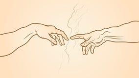 La creación del fragmento de Adán libre illustration