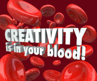 La creatividad está en su inspiración roja sangre de la imaginación de las células Fotos de archivo