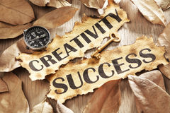 La creatività è chiave al concetto di successo Immagine Stock Libera da Diritti