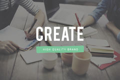 La creazione crea il concetto di invenzione dell'immaginazione di creatività di idee fotografia stock libera da diritti