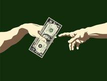 La creazione di soldi Immagine Stock